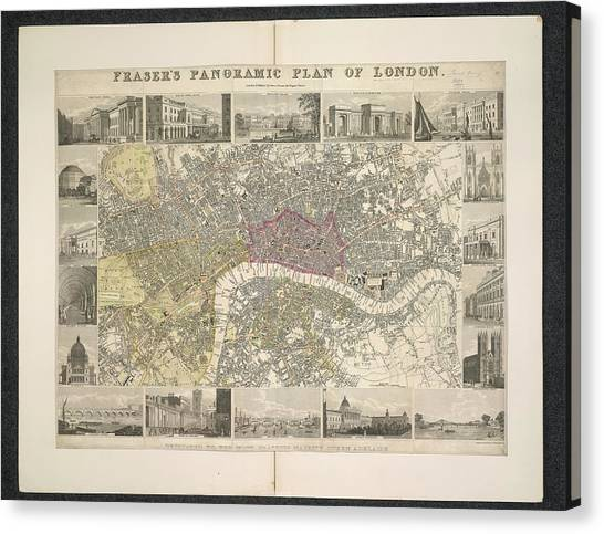 Tower Of London Canvas Print - Plan Of London by British Library