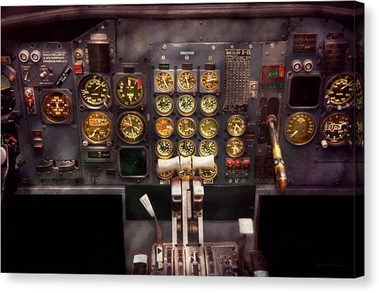 Plane - Cockpit - Boeing 727 - The Controls Are Set Canvas Print
