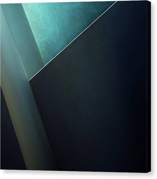 Turquoise Canvas Print - Plane by Gilbert Claes