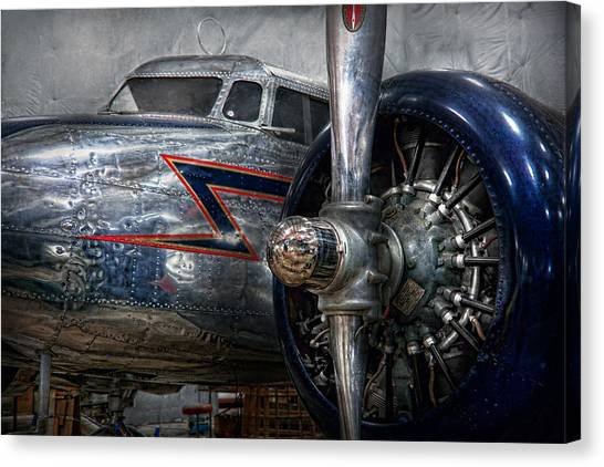 Aviators Canvas Print - Plane - Hey Fly Boy  by Mike Savad