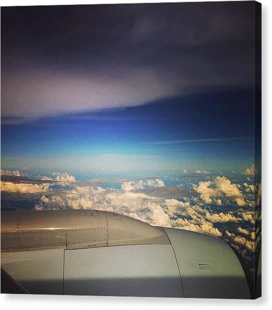 Jets Canvas Print - #plane #jet #engine #cloud #clouds by Robert Puttman
