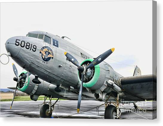 Prop Planes Canvas Print - Plane Naval Air Transport Service by Paul Ward