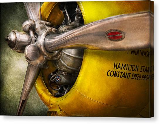 Plane - Pilot - Prop - Twin Wasp Canvas Print