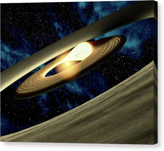 Planet Forming Disk Distortion Canvas Print by Nasa/jpl-caltech