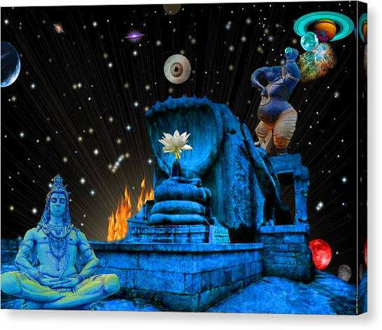 Planet Of Shiva  Canvas Print by Jason Saunders