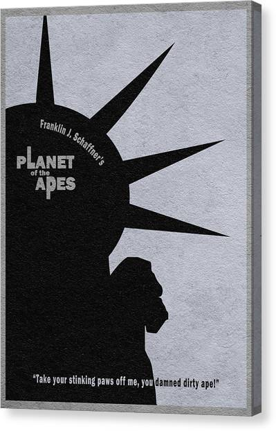 Planet Canvas Print - Planet Of The Apes by Inspirowl Design