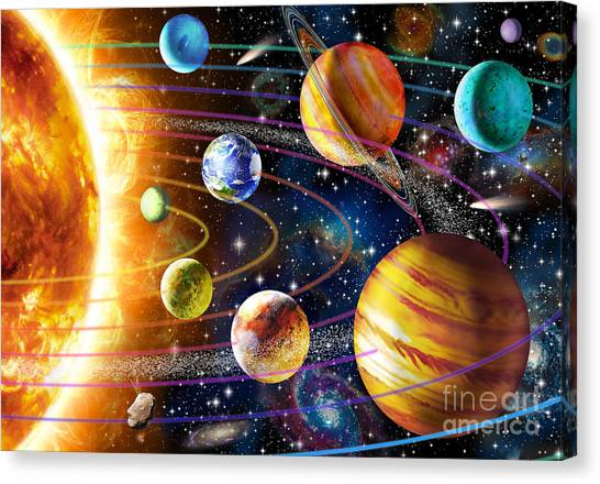 Uranus Canvas Print - Planetary System by Adrian Chesterman
