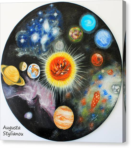 Augusta Canvas Print - Planets And Nebulae In A Day by Augusta Stylianou