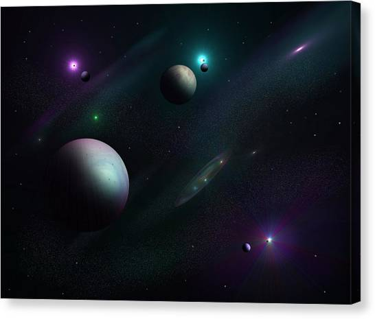 Planets Beyond Our Solar System Canvas Print by Ricky Haug