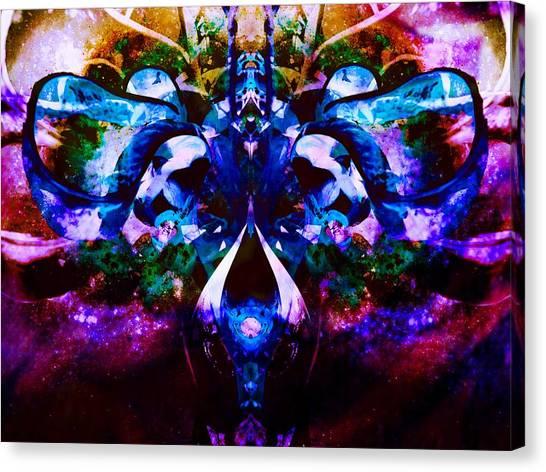 Plant Abstract Canvas Print by Dawn  Van Doorn