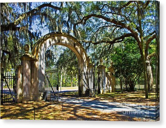 Plantation Gate Canvas Print