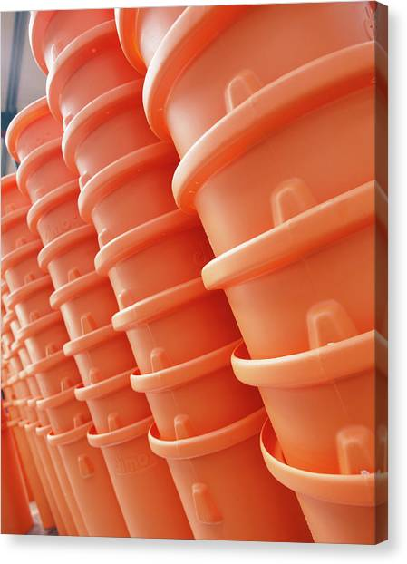Rubbish Bin Canvas Print - Plastic Bins by Steve Allen/science Photo Library