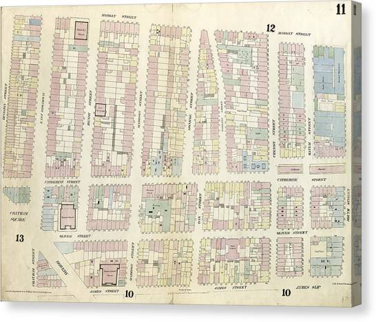 Chatham Canvas Print - Plate 11 Map Bounded By Chatham Square, Division Street by Litz Collection