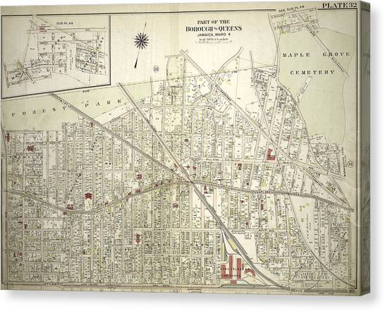 Atlantic Division Canvas Print - Plate 32 Bounded By Forest Park Magnolia Avenue, Union by Litz Collection