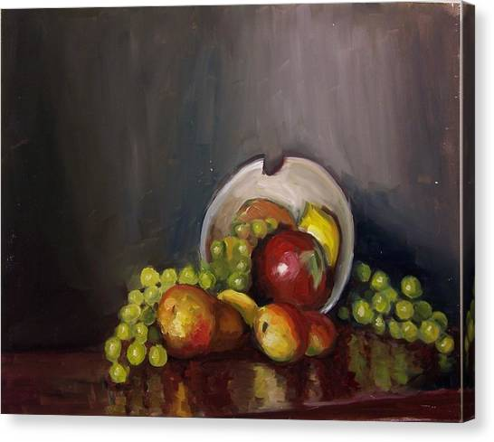 Plate With Fruit Canvas Print