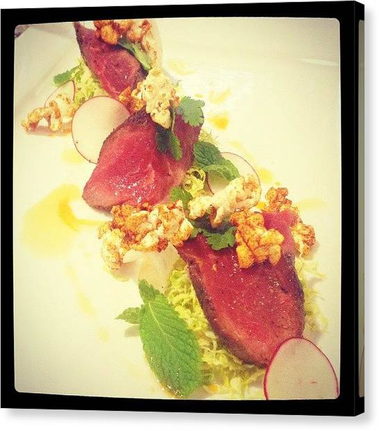 Popcorn Canvas Print - #plated #searedbeef #beef #paradoxchef by James Gentry