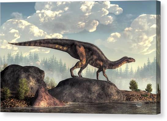 Brachiosaurus Canvas Print - Plateosaurus by Daniel Eskridge
