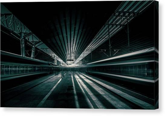 Platform Beijing Canvas Print by Baidongyun