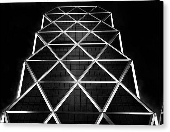Grid Canvas Print - Platinum by Hans-wolfgang Hawerkamp