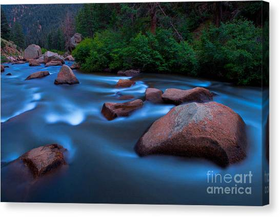 Platte At Twighlight Canvas Print