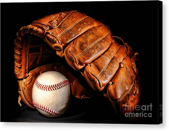 Softball Canvas Print - Play Ball by Olivier Le Queinec
