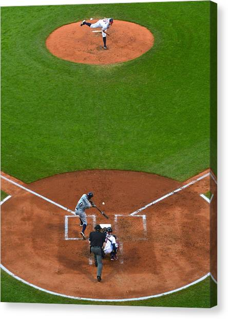Cleveland Indians Canvas Print - Play Ball by Frozen in Time Fine Art Photography