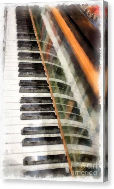 Harpsichords Canvas Print - Play It Again Sam by Edward Fielding