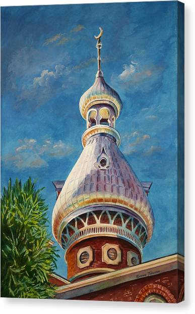 Play Of Light - University Of Tampa Canvas Print