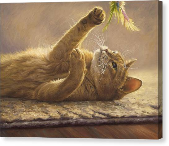 Indoors Canvas Print - Playtime by Lucie Bilodeau