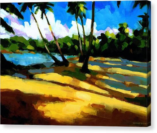 Coconut Canvas Print - Playa Bonita 2 by Douglas Simonson