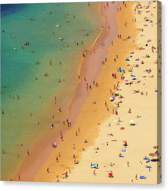 Playa De Las Teresitas, Tenerife, Spain Canvas Print by Chris Hepburn