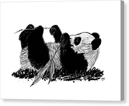 Playful Panda Canvas Print
