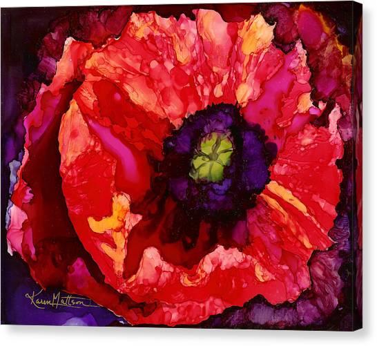 Playful Poppy Canvas Print
