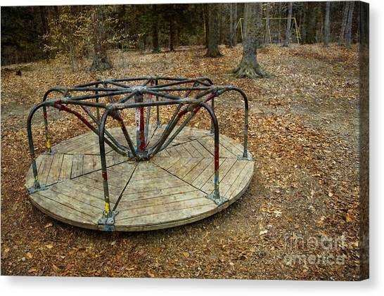 Playground In The Woods Canvas Print