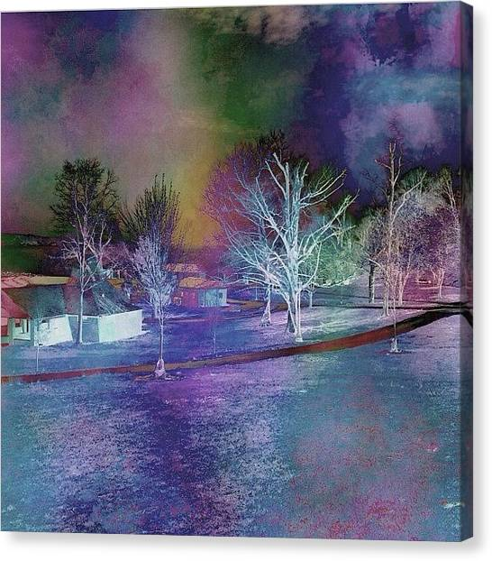 Watercolor Canvas Print - Playin Around With #laminar...what A by Robin Mead