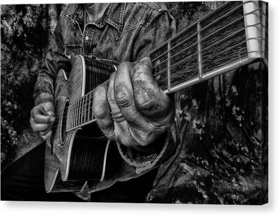 Playin The Blues Canvas Print