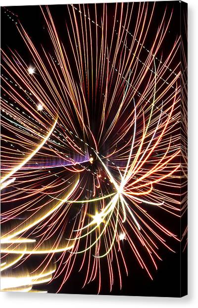 Playin With Fireworks Canvas Print