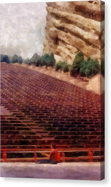 Playing At Red Rocks Canvas Print