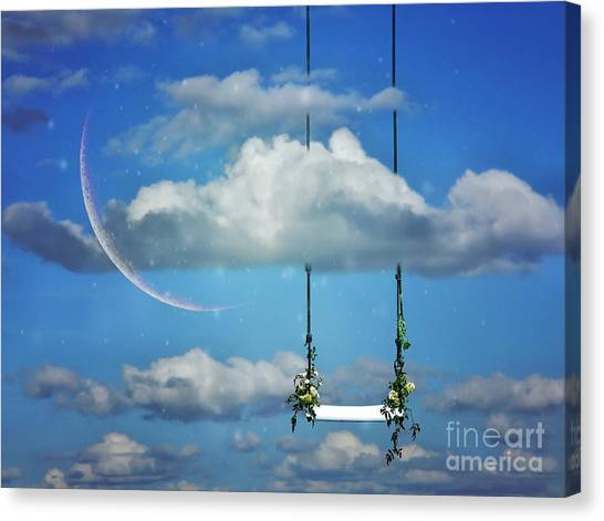 Playing In The Clouds Canvas Print