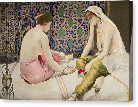 Boudoir Canvas Print - Playing Knucklebones by Paul Alexander Alfred Leroy