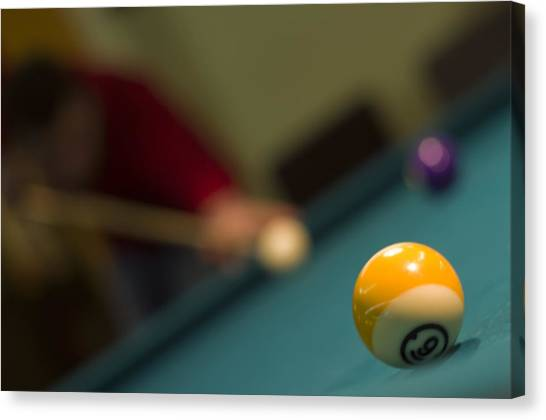 Playing Pool Canvas Print by Ioan Panaite
