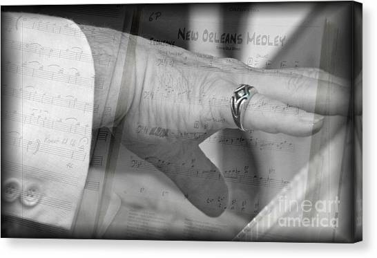 Playing The Medley Canvas Print