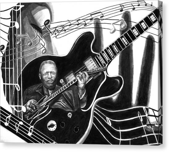 Playing With Lucille - Bb King Canvas Print