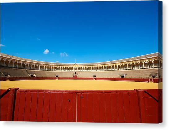 Plaza De Toros Canvas Print by Francesco Riccardo  Iacomino