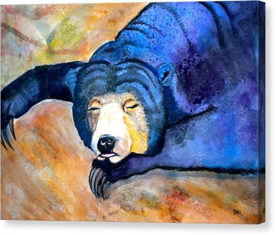 Bear Claws Canvas Print - Pleasant Dreams by Debi Starr