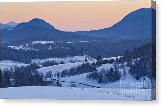Pleasant Valley Winter Twilight Canvas Print