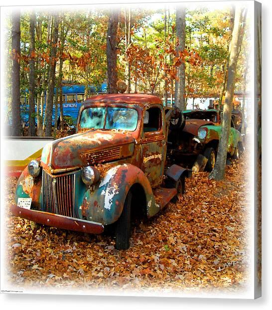 Pleasantville Speedway Tow Truck Canvas Print