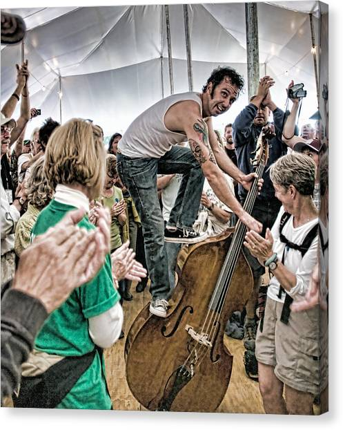 The Lost Bayou Ramblers Pleasing The Crowd Canvas Print