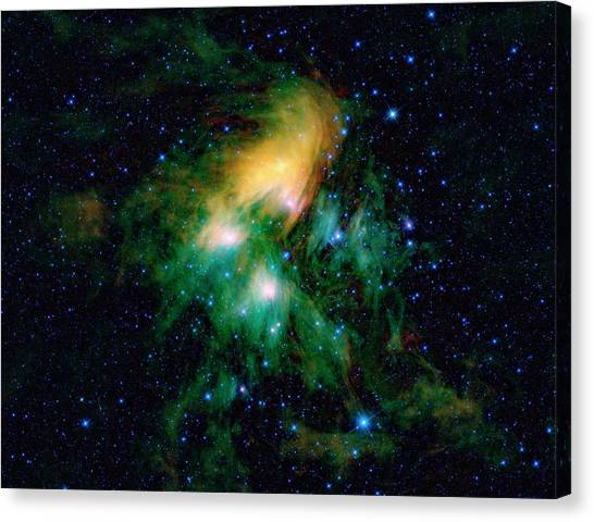 Canvas Print - Pleiades Star Cluster by Nasa/jpl-caltech/ucla/science Photo Library