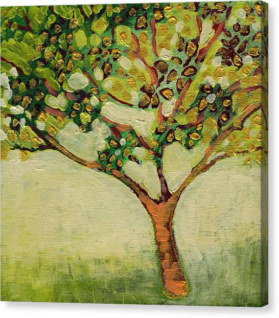 Trees Canvas Print - Plein Air Garden Series No 8 by Jennifer Lommers